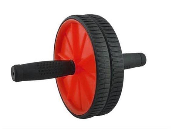 Ρόδα Κοιλιακών, AB Wheel, με χαλάκι, Κοκκινο