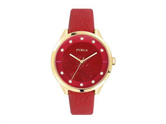 Furla Γυναικείο Ρολόι Χειρός 38mm σε κόκκινο χρώμα, Metropolis R4251102521