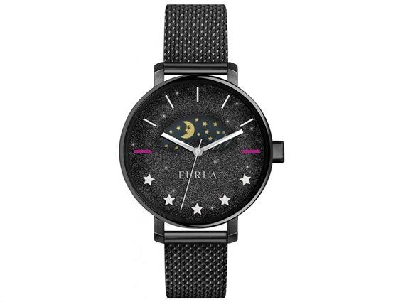 Furla Γυναικείο Ρολόι Χειρός 38mm με μπρασελέ σε μαύρο χρώμα, Rea R4253118503