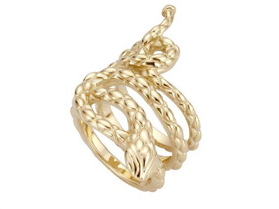 Just Cavalli Γυναικείο Κόσμημα Δαχτυλίδι από ατσάλι σε χρυσό χρώμα