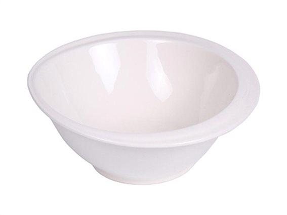 Πορσελάνινο Μπολ Σαλάτας, Σαλατιέρα σε λευκό χρώμα, με περίμετρο 24,7 cm, Anika