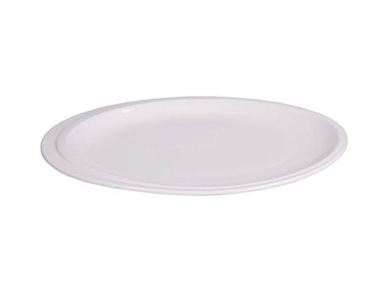 Πορσελάνινος Οβάλ Δίσκος Σερβιρίσματος, σε λευκό χρώμα, 33x24cm, Anika