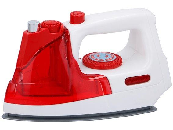 Eddy Toys Παιδικό παιχνίδι σίδερο ρούχων με ήχο και φωτάκι, σε κόκκινο-λευκό χρώμα,19x10x11cm