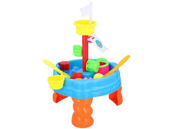 Eddy Toys Σετ Παιδικό επιτραπέζιο παιχνίδι νερού και άμμου 22 τεμαχίων, 38x38x58.5cm