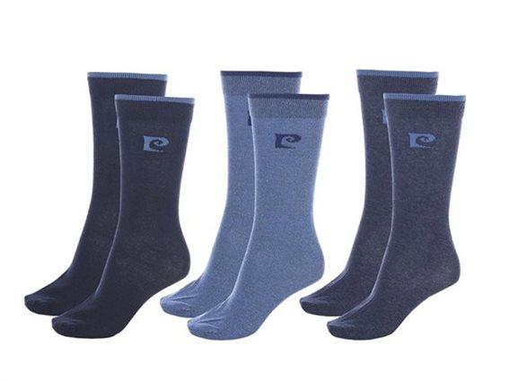 Pierre Cardin Ανδρικές κάλτσες σετ 6 τεμαχίων, σε σκούρο μπλε και γαλάζιο χρώμα, 39/42