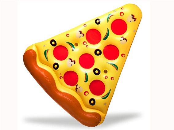 Φουσκωτό στρώμα Πίτσα Pizza για θάλασσα και πισίνα, Γίγας, μήκους 165 εκατοστά