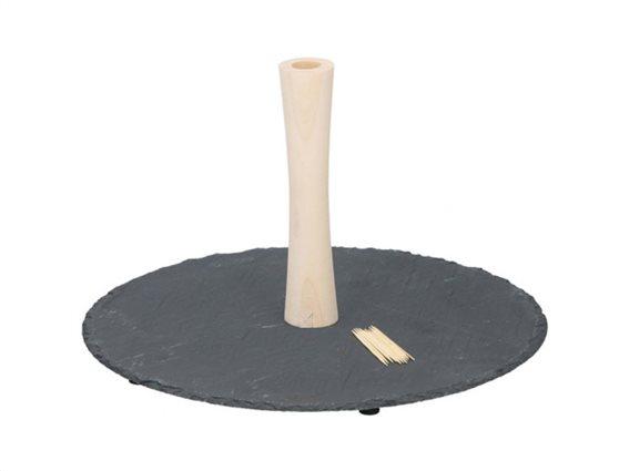 Σετ δίσκος σερβιρίσματος 102 τεμαχίων με ξύλινη βάση και 100 οδοντογλυφίδες, 30 εκατοστών, Alpina