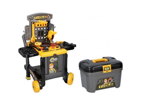 Eddy Toys Παιδικός πάγκος εργασίας με 60 τεμάχια, 3 σε 1, διαστάσεις 41x46.5x60 εκατοστά