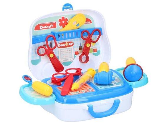Eddy Toys Παιχνίδι Σετ Γιατρού 14 τεμάχια ιατρικά εργαλεία σε βαλιτσάκι, 13966