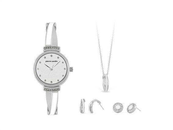 Pierre Cardin PCX6858L296 Σετ Συλλογή Κοσμημάτων με Γυναικείο Ρολόι