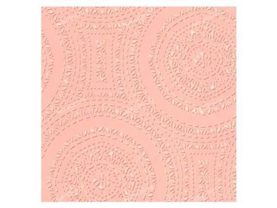 Διακοσμητική Vinyl Ταπετσαρία με Ανάγλυφη Όψη σε Ροζ Χρώμα, Ρολό 0.53 X 10 μέτρα, No 17764 Boutique