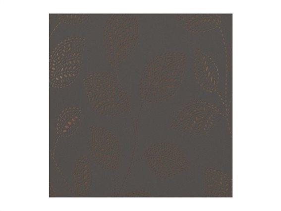 Διακοσμητική Vinyl Ταπετσαρία με Ανάγλυφη Όψη σε Καφέ Χρώμα, Ρολό 0.53 X 10 μέτρα, No 17750