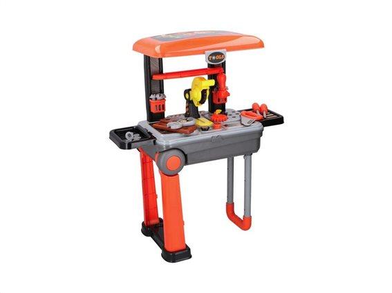 Παιδικός Πάγκος εργασίας με εργαλεία Trolley και αξεσουάρ, 37.5x23x12.5cm, Eddy Toys