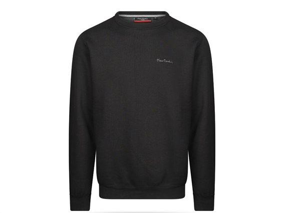 Pierre Cardin Ανδρική Μπλούζα Φούτερ με μακρύ μανίκι σε Μαύρο χρώμα Small
