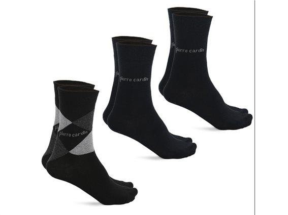 Pierre Cardin Σετ Ανδρικές κάλτσες 3 τεμαχίων σε μαύρη απόχρωση, Design Black 39-42