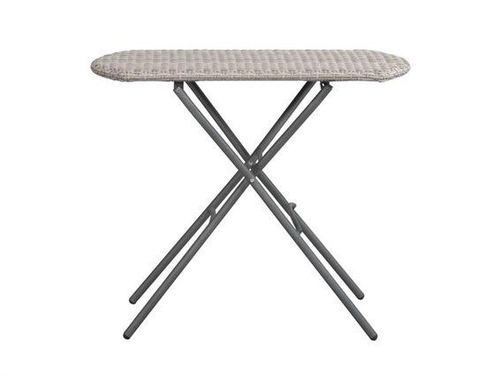 Aria Trade Πτυσσόμενο Τραπέζι Κήπου και Βεράντας σε Γκρι χρώμα, 84x51x71cm, Bistro table