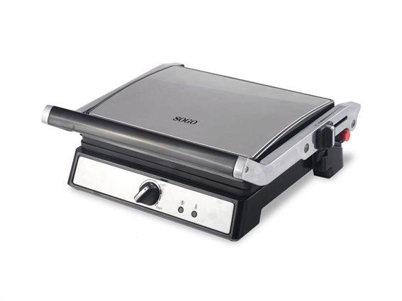 SOGO Τοστιέρα Γκριλιέρα (grill) Σαντουιτσιέρα 2000W με Λαβή και Επίπεδες πλάκες, SAN-SS-7144