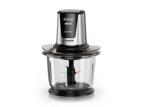 SOGO Πολυκόφτης Μπλέντερ 400W με δοχείο 1.5L σε Μαύρο χρώμα, PIC-SS-5260