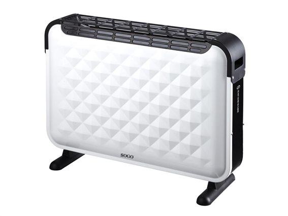 SOGO Turbo Ηλεκτρικό Φορητό Καλοριφέρ Θερμαντικό Σώμα με Μέγιστη Ισχύ 2000W και 3 επίπεδα θέρμανσης