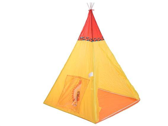 Play Tent Παιδική Ινδιάνικη Σκηνή Κίτρινη 100x135cm