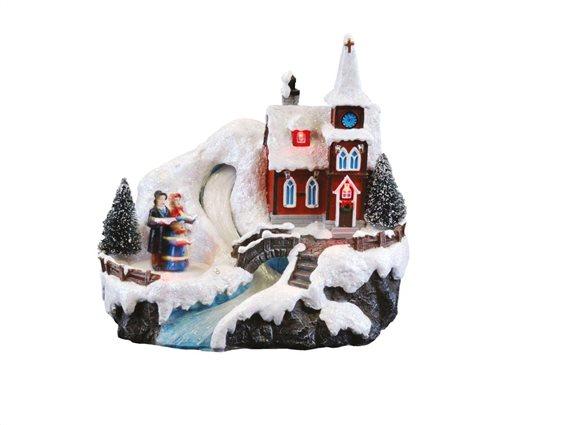 Aria Trade Χριστουγεννιάτικο Διακοσμητικό Led Και Κίνηση 12x20x20cm 800505