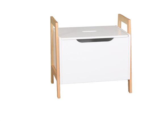 Aria Trade Ξύλινο Κουτί Αποθήκευσης - Κομοδίνο 48x36x49cm