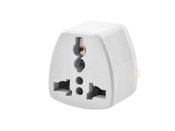 Aria Trade Αντάπτορας Πρίζας Ταξιδιού Travel Adaptor με Σύστημα Προστασίας από EU σε UK, 250V 13A
