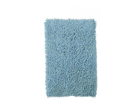 Απορροφητικό Χαλάκι Μπάνιου με μικροϊνες σε μπλε χρώμα, 45x75cm
