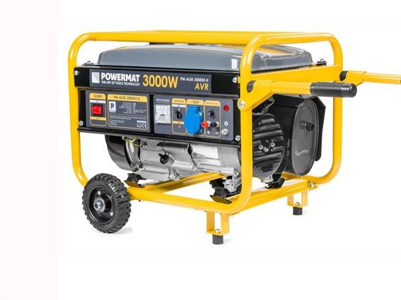 Γεννήτρια Βενζίνης Μονοφασική χωρητικότητας 15L και τετράχρονο κινητήρα, PowerMat PM-AGR-3000KE-K