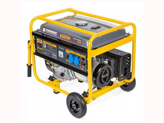 PowerMat Γεννήτρια Βενζίνης Διφασική χωρητικότητας 25L και τετράχρονο κινητήρα PM-AGR-6500KE-K