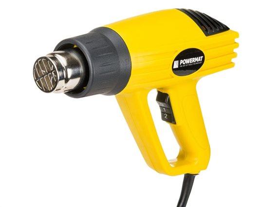 Ηλεκτρικό Πιστόλι Θερμού Αέρα 2000W με 2 ταχύτητες, PowerMat PM-OP-2000