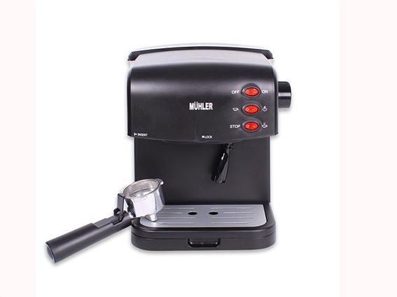 Muhler Καφετιέρα Espresso 850Watt, 220-240V 50HZ, για Espresso και Cappuccino, σε μαύρο χρώμα