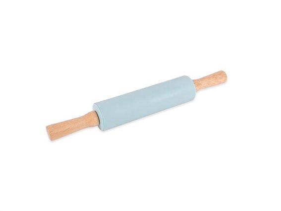 Εργαλείο Κουζίνας Πλάστης 20cm για Άνοιγμα Ζύμης σε μπλε χρώμα, Rolling Pin Luigi Ferrero