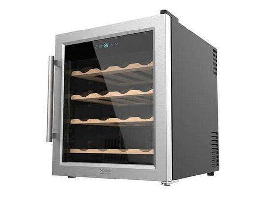 Συντηρητής Ψυγείο Κρασιών 48L με θέσεις για 16 φιάλες, Cecotec Grand Sommelier 1600 SilenceWood