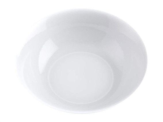 Pierre Cardin Σαλατιέρα από Πορσελάνη διαμέτρου 23 cm σε λευκό χρώμα