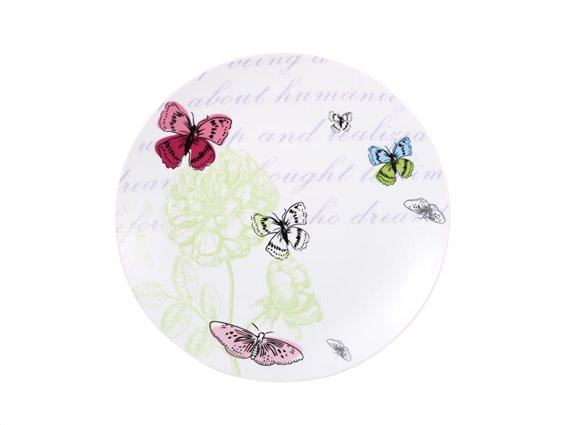 Pierre Cardin Πιάτο από Πορσελάνη διαμέτρου 27 cm με σχέδιο Butterfly, Avignon