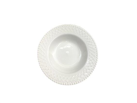 Pierre Cardin Πιάτο Βαθύ από Πορσελάνη διαμέτρου 21 cm σε λευκό χρώμα