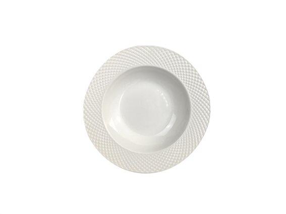 Pierre Cardin Πιάτο Βαθύ από Πορσελάνη διαμέτρου 21 cm σε λευκό χρώμα, Elegance