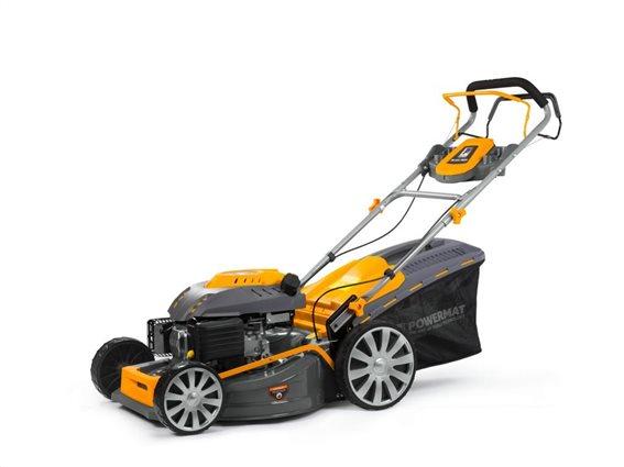 Powermat Βενζινοκίνητο Χειροκίνητο Χλοοκοπτικό Χορτοκοπτικό Γκαζόν 5.2kW 7KM 2800 obr/min