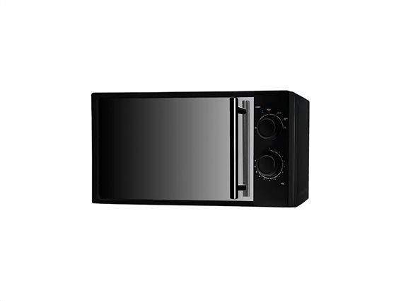 Cecotec Φούρνος Μικροκυμάτων 700W χωρητικότητας 20L με 6 επίπεδα θέρμανσης, All Black 1367