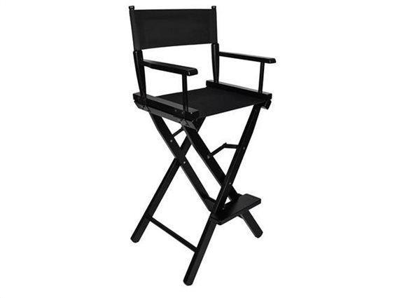 Aria Trade Καρέκλα Μακιγιάζ Μαύρη 54x40x116