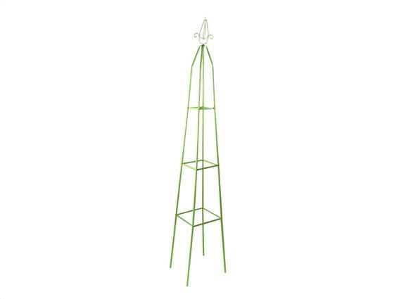 Kinzo Garden Μεταλλικός Πύργος Αναρρίχησης Φυτών σε πράσινο χρώμα, 31x31x200 cm