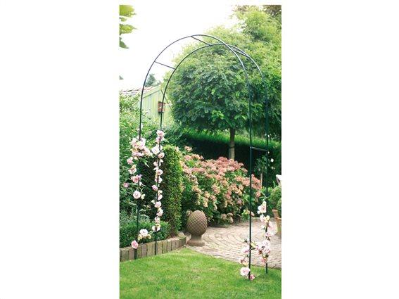 Kinzo Garden Μεταλλική Διακοσμητική Πέργκολα Εισόδου Αψίδα Αναρρίχησης Φυτών για εξωτερικό Χώρο, 140x240 cm