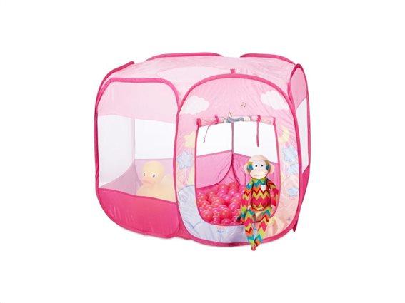 Aria Trade Μπαλοπισίνα - Παιδικό Πάρκο με 100 Μπάλες Ροζ 75x90x90cm