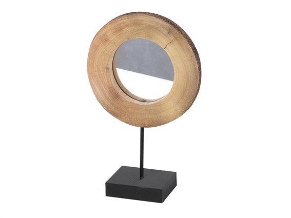 Διακοσμητικός Επιτραπέζιος Καθρέφτης με μαύρη βάση, 31x8x39 cm