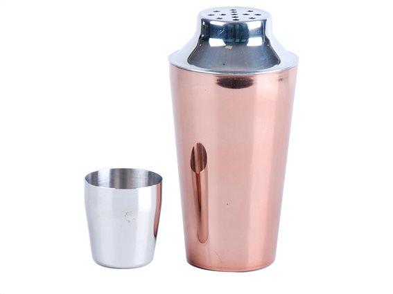 Σέικερ για Κοκτέιλ Cocktail Shaker σε χάλκινο χρώμα χωρητικότητας 500 ml
