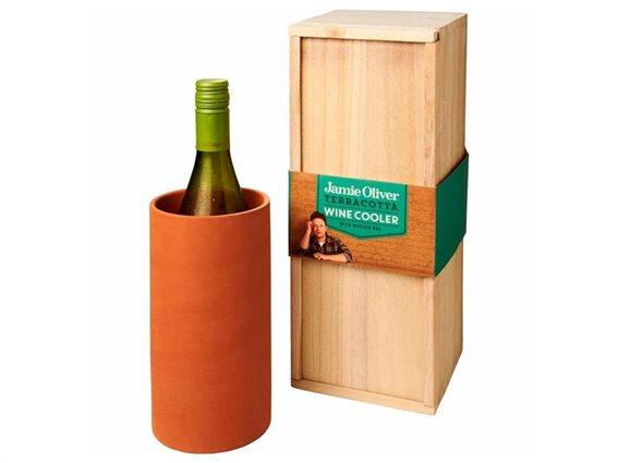 Jamie Oliver Παγοκύστη Κρασιού και Ποτών Terracotta Wine Cooler, 13.7x14.3x35.4 cm, 555736