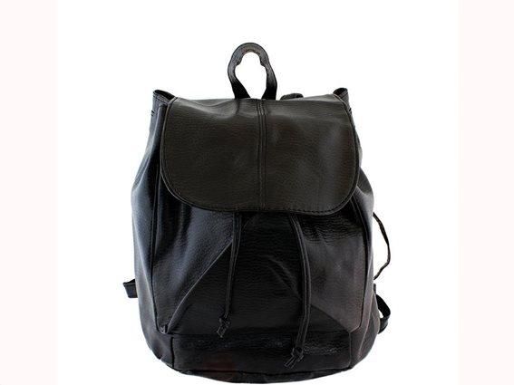 Aria Trade Γυναικεία Τσάντα Πλάτης Backpack σε μαύρο χρώμα, 29x28x14cm