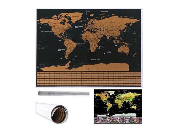 Aria Trade Παγκόσμιος Χάρτης Ξυστό 82x59cm Scratch Map