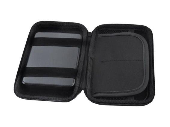 Φορητή Εξωτερική Θήκη για Σκληρό Δίσκο 2.5'' σε μαύρο χρώμα, 10x16x4 cm